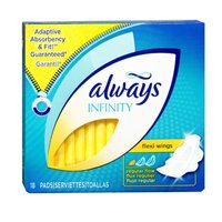 Always Always Infinity Regular Pads With Wings, 18 ct (Pack of 3) always