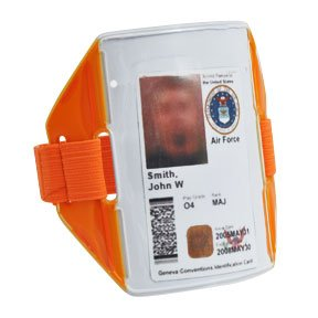 Reflex Reflective Armband w/ ID Holder (Neon Orange)