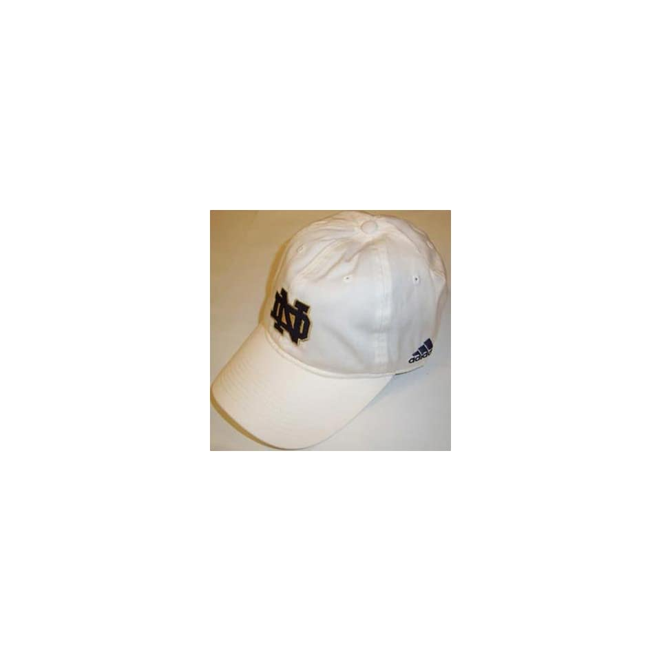 Notre Dame Fighting Irish White Adjustable Slouch Hat