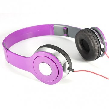 Issec 3.5Mm Jack Foldable Dj Style Stereo Headset Ear Headphone(Purple)