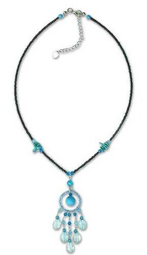 Necklace, 'Azure Dreamcatcher' 0.3