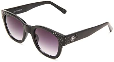 Rocawear Women's R3009 OX Round Sunglasses,Black Frame/Smoke Gradient Lens,One Size