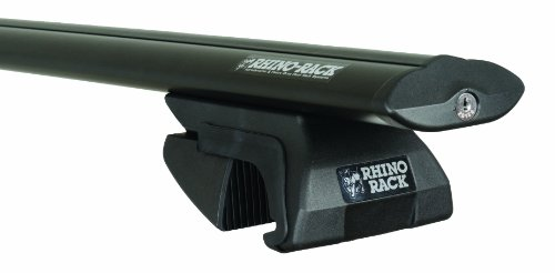 Rhino Rack 2-Bar Sportz Rail Mount Aero Bar Roof Rack System, Black, SXBS22