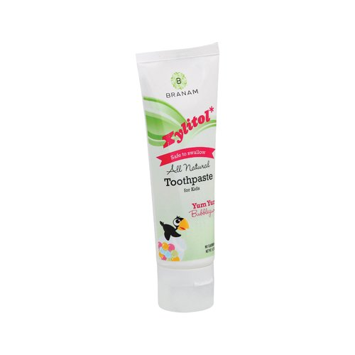 Branam Oral Health Xylitol Toothpaste For Kids Yum Yum Bubblegum 4.2 Oz 4.2 Oz front-923367
