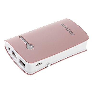 10400mAh MultiOutput Flashlight External Battery Pink for Photo
