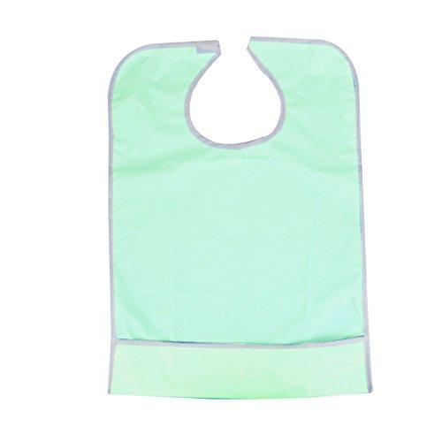 pixnor-protector-de-ropa-babero-impermeable-adulto-verde-claro
