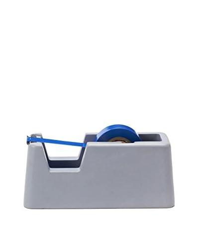 Areaware Small Concrete Tape Dispenser, Blue