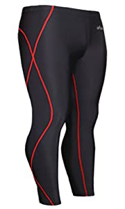 Emfraa Skin Tights Compression Leggings Base Layer Running Pants Men Women Xs