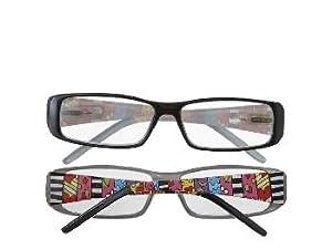 multi stripe reading glasses 2 50 strength