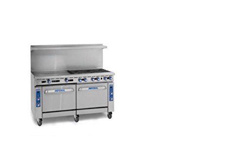 "Imperial Commercial Restaurant Range 72"" Griddle With Standard Oven/Cabinet Natural Gas Ir-G72-Xb"