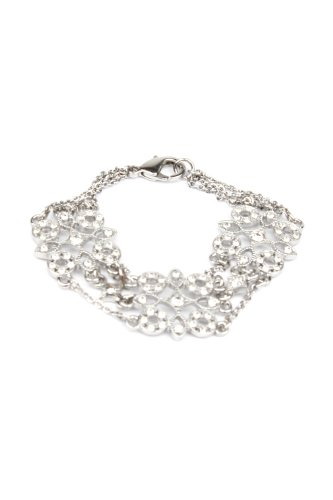 Nina Bridal Tarissa Crystal Bracelet - Antique Silver - Jewelry Accessory