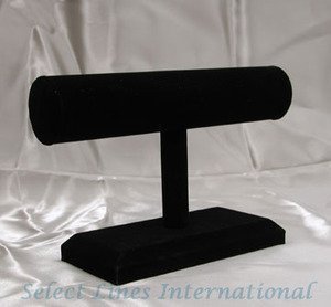 NEW Black Velvet Bracelet T-Bar Jewelry Display