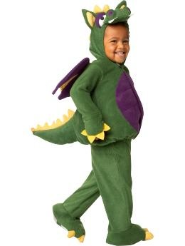 [Old Navy Dragon Halloween Dress Up Costume 2T/3T] (Barney Infant Costumes)