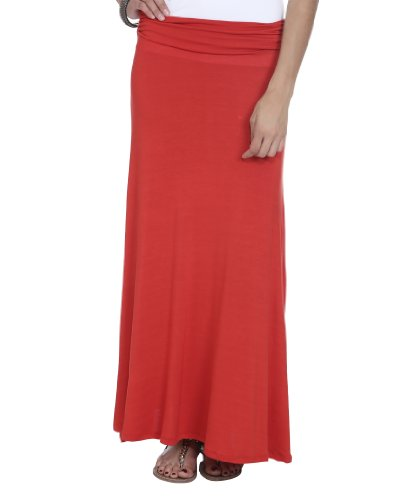 Wet Seal Women's Solid Knit Maxi Skirt M Hibiscus