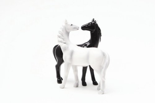 Horses Kiss Magnetized Salt and Pepper Shaker Set