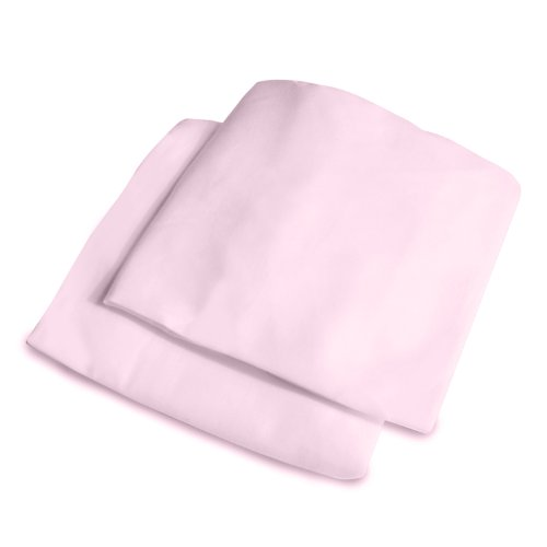 Summer Infant 2 Count Cotton Crib Sheet, Pink