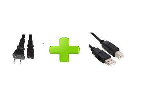 Ac Power Cord Cable For Hp Deskjet 1000Cse 995Ck 1125 1100 1120 F2120 Printers + Usb Cord