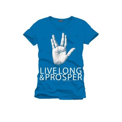 Star Trek Live Long And Prosper T-Shirt turchese M