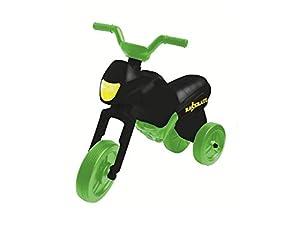Raserati RR201153 Kindermotorrad Maxi mit grünen Rädern, schwarz