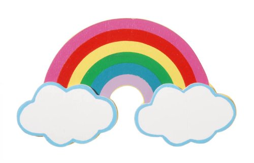 Darice 9199-58 Painted Wood Rainbow Cutout, 2-3/4-Inch