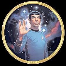 STAR TREK LIMITED EDITION CERAMIC COLLECTOR PLATE : SPOCK 25 Anniversary