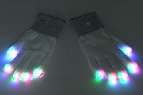 光る手袋 LED マジック グローブ(LED MAGIC GLOVE) ホワイト パーティグッズ・シリーズ