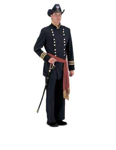 [Deluxe Civil War Union Officer Theatrical Quality Costume, Large] (Civil War Union Officer Costumes)