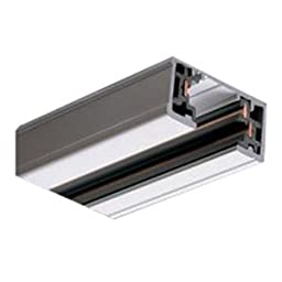 Halo Power-Trac Track, 8 ft, 1 Circuits, For Use With Track Lighting Lampholders, Silver