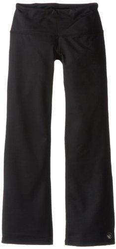 Limeapple Big Girls' Basic Asana Pant, Black, 8