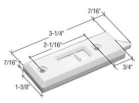 "Crl White Tilt Latch; 2-1/16"" Screw Holes - Package back-533373"