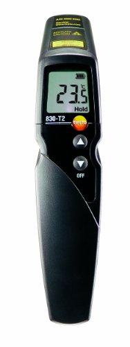 Testo-0560-8312-830-T2-Infrarot-Thermometer-2-Punkt-Laser-Messfleckmarkierung-121-Optik-einstellbare-Grenzwerte-Alarmfunktion-externe-Fhler-anschliebar