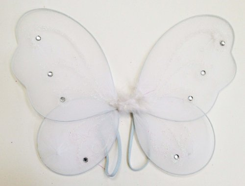 "12"" X 10 3/4"" Fairy Princess Butterfly Wings (White)"