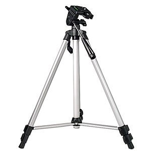 53-Inch Camera Tripod with Bubble Level (Silver)