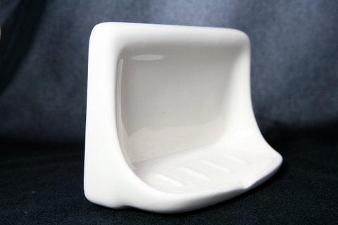 4 x6 white ceramic soap dish for tiled showers ebay - Ceramic soap dishes for bathrooms ...
