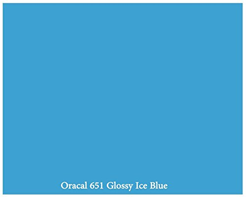 "12"" X 10 Ft Roll Of Glossy Oracal 651 Ice Blue Repositionable Adhesive-Backed Vinyl For Craft Cutters, Punches And Vinyl Sign Cutters By Vinylxsticker front-886176"