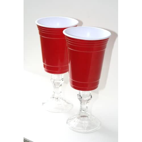 Melamine Red Solo Cup Wine Glass Redneck