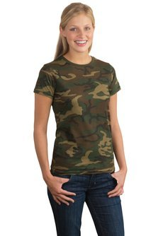 Ladies Camo Perfect Weight District Tee