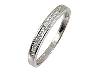 Ariel 9ct White Gold Diamond Channel Set Eternity Ladies Ring