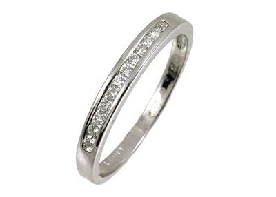 Ariel 9ct White Gold Diamond Channel Set Eternity Ladies Ring