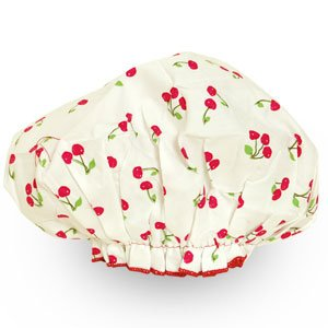 Spa Sister Cotton Bouffant Shower Cap - Cherry