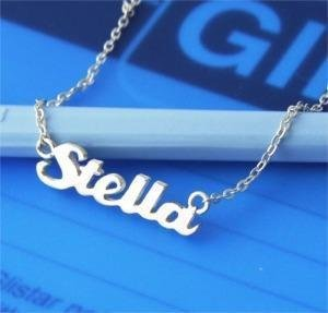 Personalized 925 Silver Name Necklace Any Language Stella Style