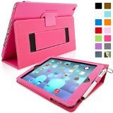 "Snuggâ""¢ iPad Air (iPad 5) Case - Smart Cover with Flip Stand & Lifetime Guarantee (Hot Pink Leather) for Apple iPad Air (2013)"