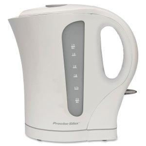 Proctor Silex K4090 Cordless Electric Kettle, 1.7-Liter, White