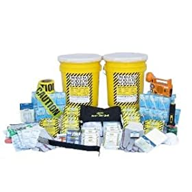 Emergency Disaster Preparedness Deluxe Office Emergency Kit - 10 Person Earthquake, Flood, Fire, Tornado, Hurricane or Man-Made Disasters