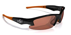 NCAA Oklahoma State Cowboys Dynasty Sunglasses with Bag, Black and Orange, Adult by Maxx