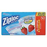 Ziploc Double Zipper All-Purpose Storage Quart Value Pack Bags - 50 CT
