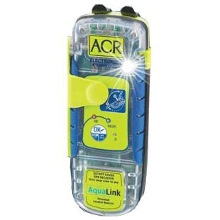 ACR Aqualink 406 Locator Beacon with Internal GPS, 5-Year Battery, Belt Clip, Lanyard and LED Strobe Light