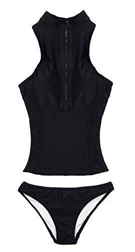 La plage women 39 s swimsuit sleeveless zip front rash vest Coloring book zip vk