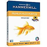 "Hammermill Multipurpose Paper, 8 1/2"" x 11"", 24 Lb., 92 Brightness, Ream Of 500 Sheets"
