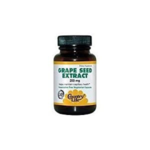Country Life Grape Seed Extract 200 Mg (veg Caps), 30-Count by Country Life